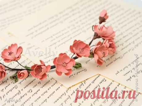 Мастер-класс. Венок с цветами персика из фоамирана. | Страна Мастеров