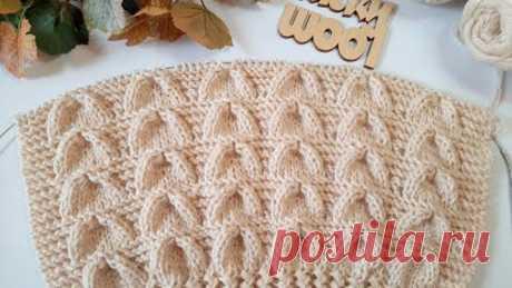 """Классный узор спицами """"Колокола"""" для вязания джемпера, пуловера, свитера."""