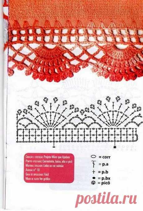 Красивые схемы для обвязки изделий. | Блог о вязании | Яндекс Дзен