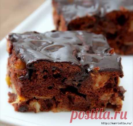 ¡La receta del pastel de chocolate de manzana!