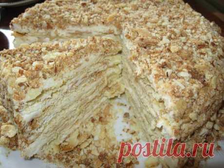 Торты из детства. Подборка 9 рецептов отличных тортов, вкус которых  многие помнят с детства.   1. ТОРТ «НАПОЛЕОН»Ингредиенты:   Показать полностью…