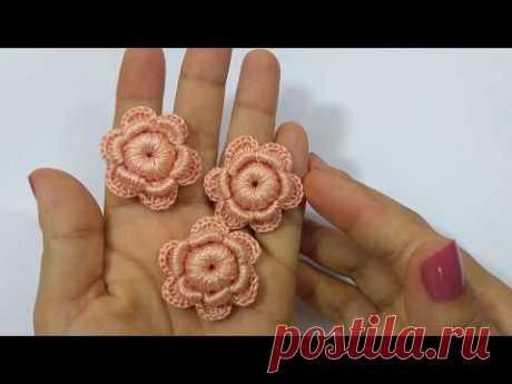 Como Fazer Flor de Crochê FÁCIL - Passo a Passo
