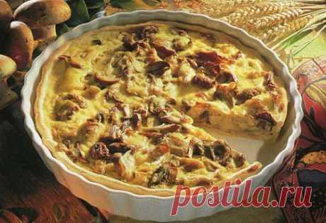 Пирог с грибами по-украински в микроволновой печи / Простые рецепты