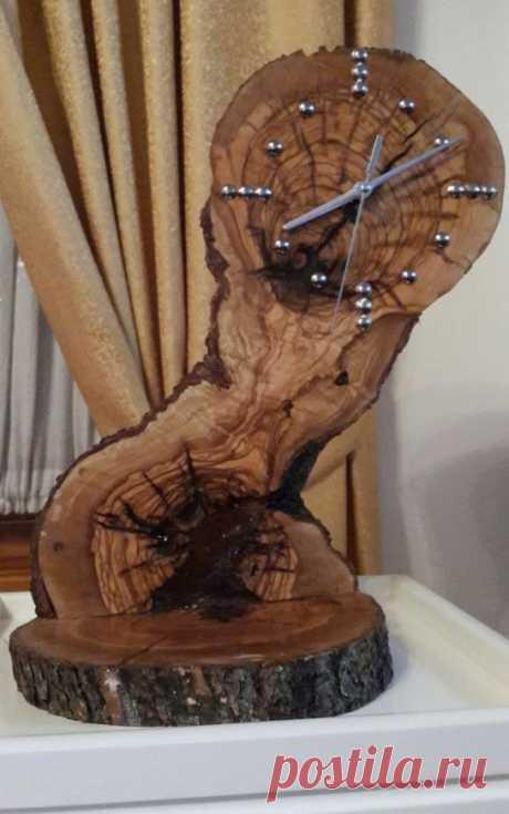 """Часы """"очень из дерева"""""""