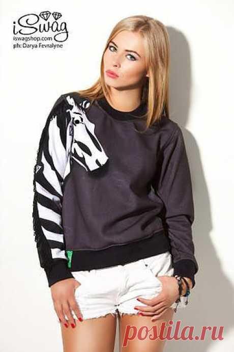 """ISwag Sweater Zebra - Цена: 1900 руб. купить оптом (Москва) / ООО """"Айсваг"""""""