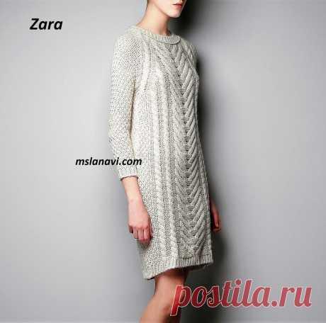 Платье с широким араном | Вяжем с Лана Ви