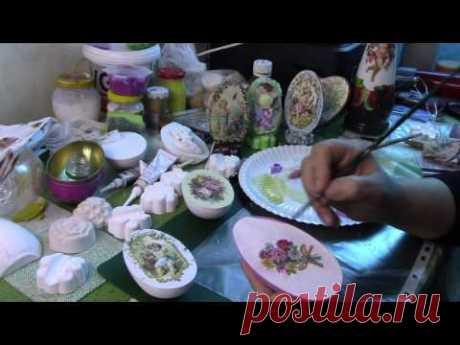 Сувенирные пасхальные яйца своими руками Часть 2 ХоббиМаркет