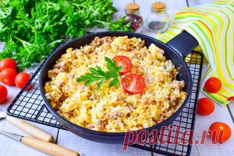Рис с фаршем в сметане рецепт с фото пошагово - 1000.menu