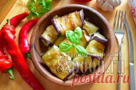 Рулетики из баклажанов с сыром и чесноком: рецепт с фото | 8 Ложек