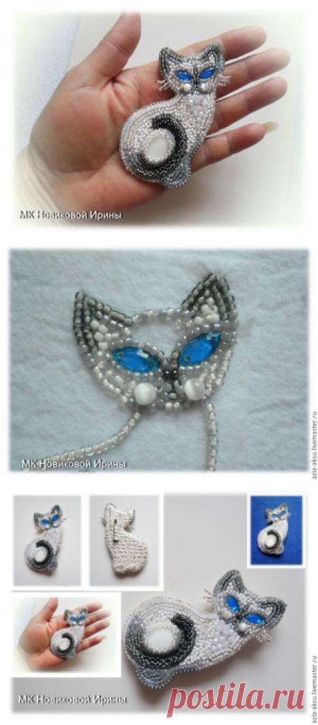 Кошка-брошка: вышиваем бисером голубоглазую сиамскую красавицу - Ярмарка Мастеров - ручная работа, handmade