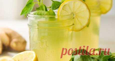 Летний лимонад с имбирем и мятой. Рецепт Лимоны, мяту и даже свежий имбирь лучше для приготовления брать из холодильника — это поможет добиться более мягкого вкуса на этапе смешивания ингредиентов. Концентрация напитка не предусматривает подачу со льдом или разбавление водой.