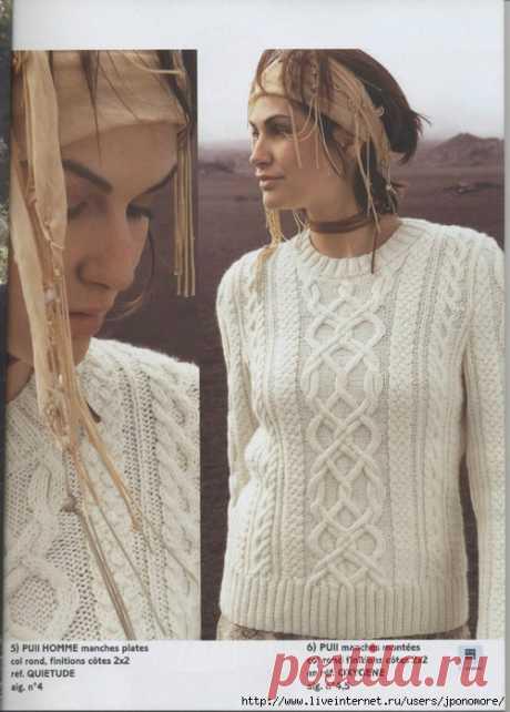 Арановые свитера - большая подборка со схемами