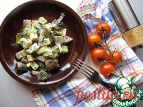 Herring, mushrooms and cheese salad - the culinary recipe