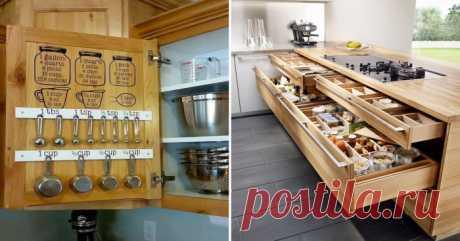 20 ejemplos admirables de la organización del espacio de la pequeña cocina | el Diablo toma