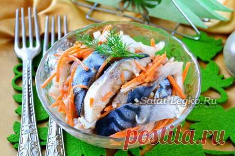 Хе из скумбрии – очень вкусно! Простой вариант корейского хе из скумбрии, который можно быстро и вкусно приготовить в домашних условиях! Рецепт на сайте: https://salat-legko.ru/4017/He_iz_skumbrii/