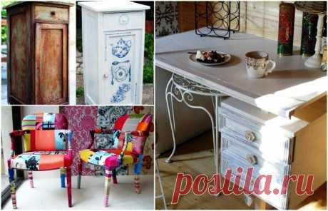12 оригинальных идей, как переделать старую мебель в стильные предметы интерьера 12 оригинальных идей, как переделать старую мебель в стильные предметы интерьераМногие, наверняка, до сих пор хранят старую мебель советских времен у себя дома или на даче.Если же она портит общую ка...