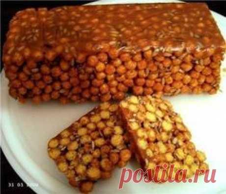 Десерт из кукурузных палочек со сгущёнкой.   Шедевры кулинарии