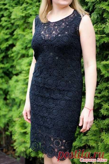 . Черное кружевное платье - Вязание - Страна Мам