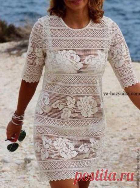 Платье для пляжа крючком схемы. Филейные узоры для платья Белое мини-платье связанное крючком. Филейные узоры для платья