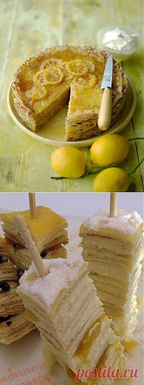 Лимонный блинный торт | Домашняя кулинария