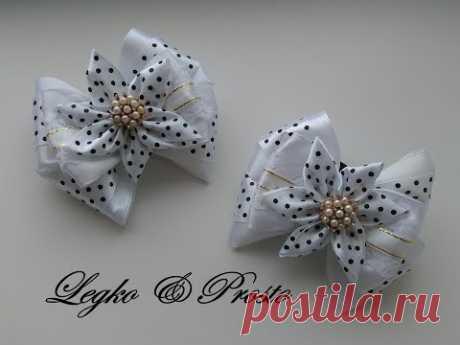 Bows from satin ribbons of MK Kanzasha \/ Bows of satin ribbons, Kanzashi MK