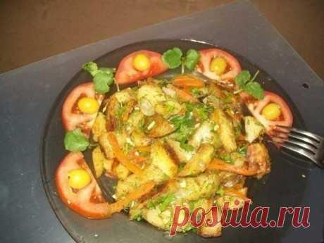 Как приготовить жареная картошка хозяйка отдыхает. - рецепт, ингридиенты и фотографии