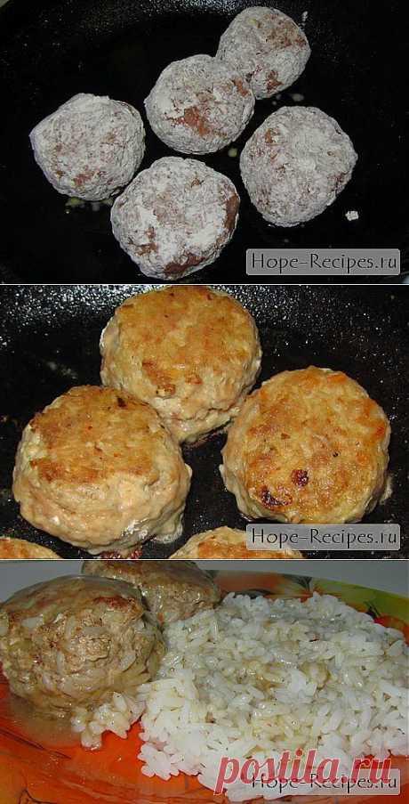 Жареные тефтели с рисом © Кулинарный блог #Рецепты Надежды