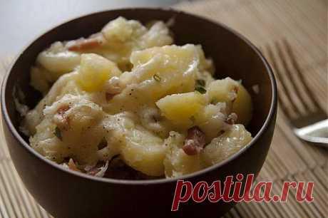 Картофель с беконом и сыром.Итальянское меню | Итальянское меню