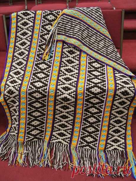 Мозаичное вязание крючком.   Блог о вязании   Яндекс Дзен