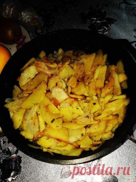 Рецепт жареной картошки с луком, которая никогда не разваливается   О вкусной и здоровой пище   Яндекс Дзен