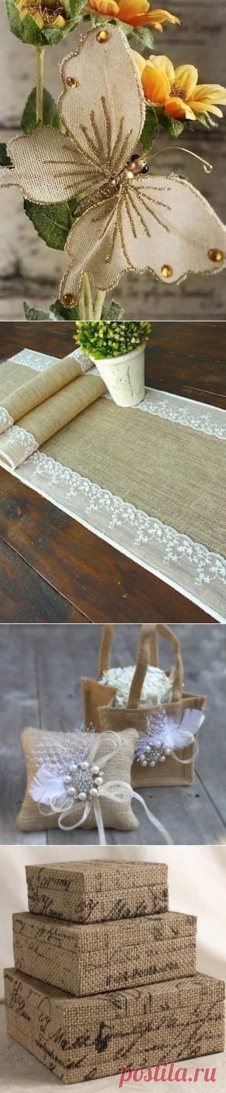 Las ideas para la decoración de la arpillera
