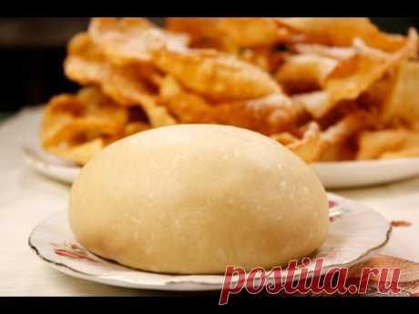 Тесто для хвороста видео рецепт - YouTube