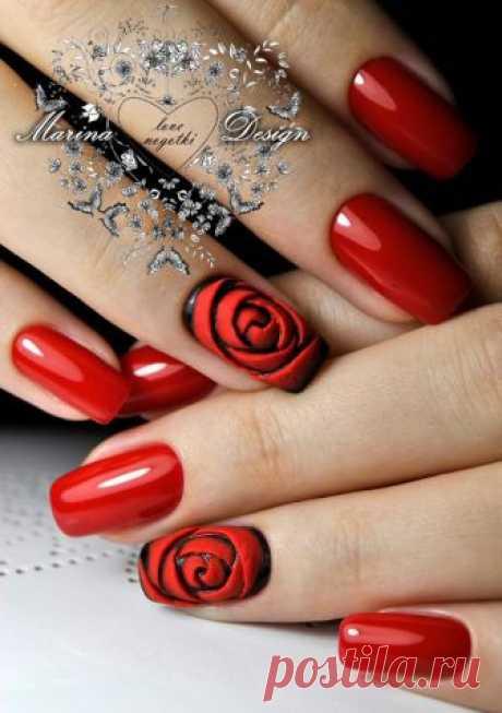 Маникюр с цветами: лучшие рисунки на ногтях (фото)