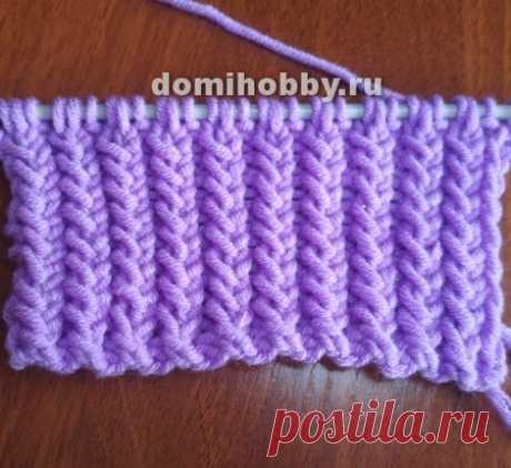 Красивая рельефная коса-резинка спицами — Сделай сам, идеи для творчества - DIY Ideas