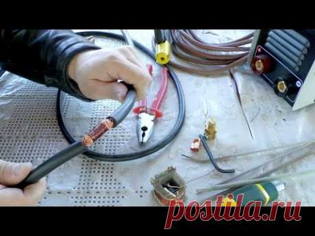 Simple and reliable connection of a welding cable without soldering and pressure testing
