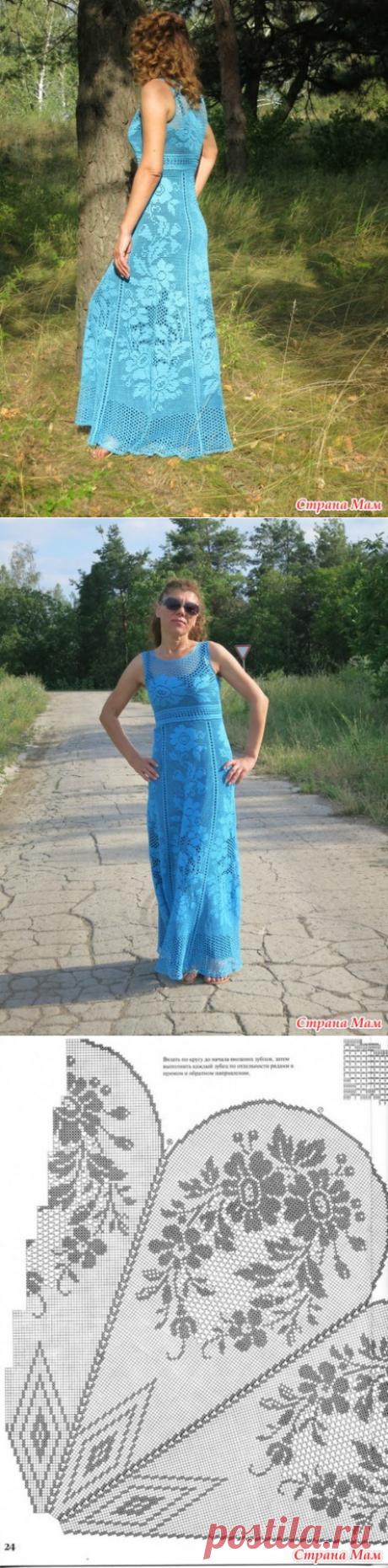 платье в пол филейкой от Alisa35