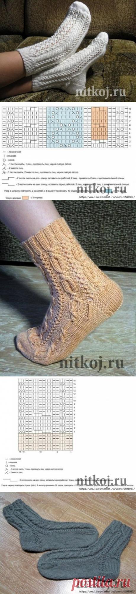 Ажурные носочки, подборка схем » Ниткой - вязаные вещи для вашего дома, вязание крючком, вязание спицами, схемы вязания