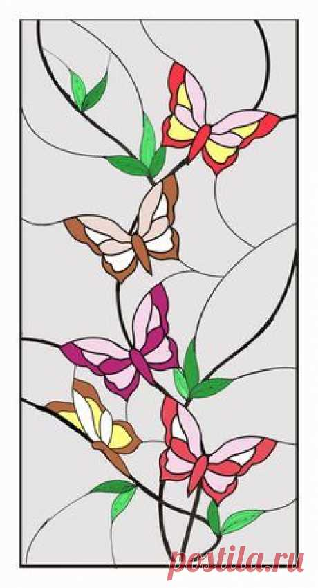 Templates of stained-glass windows | Stained-glass windows the hands