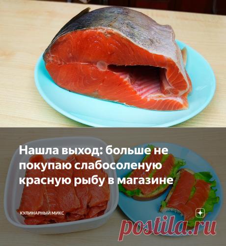 Нашла выход: больше не покупаю слабосоленую красную рыбу в магазине | Кулинарный Микс | Яндекс Дзен