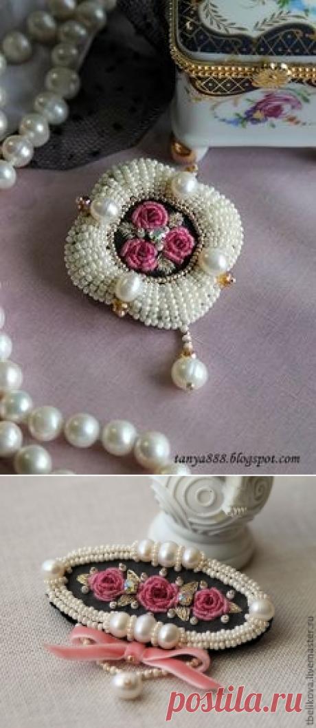 Броши ручной работы.. Комментарии | Embroidery, beading | Brooches, Beads and Beaded embroidery