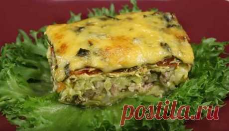Рецепты запеканки из кабачков с фаршем в духовке под сыром