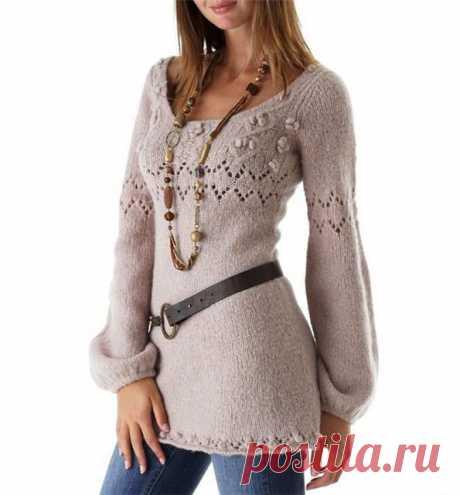 Благородная туника Милавица спицами — Пошивчик одежды