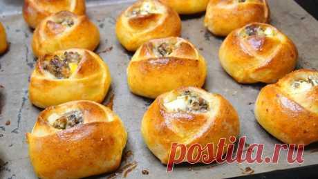 Пирожки в духовке из нечерствеющего творожного теста без дрожжей   Готовим с Калниной Натальей   Яндекс Дзен
