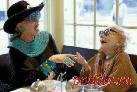Увидела в интернете и умилило: Хочу в старости таких подруг!