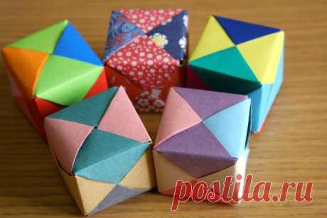 Сделать своими руками цветной кубик. Оригами. Мастер класс.