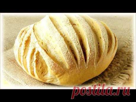 Простой рецепт домашнего пшеничного хлеба с узором
