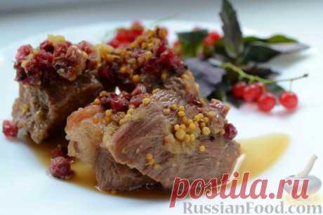 Рецепт: Пряная свинина со смородиной (в горшочке) на RussianFood.com