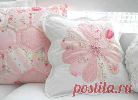 Подушка-цветок из лоскутов — Делаем руками