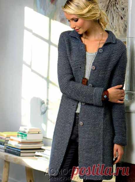 Вязаное пальто Fiona | ДОМОСЕДКА
