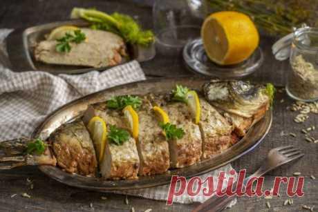 Фаршированный карп — восхитительная рыба к празднику. Пошаговый рецепт с фото — Ботаничка.ru